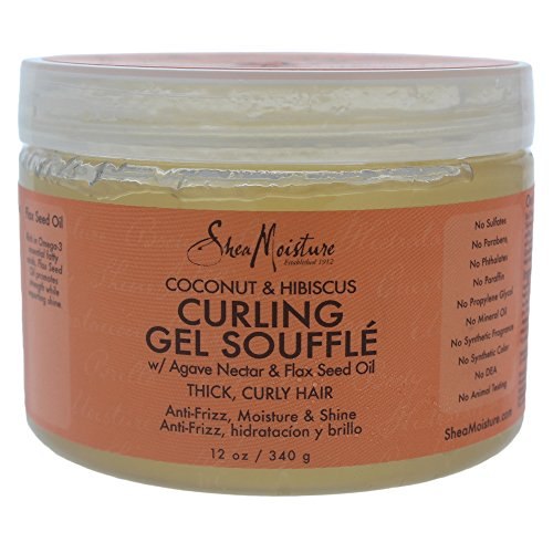 SheaMoisture Coconut & Hibiscus Curling Gel Souffle, 12 Ounce