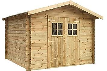 Caseta del jardín / Cabaña de troncos Alicia Tejado 300 x 200 cm Fonteyn impregnación de alta presión: Amazon.es: Jardín