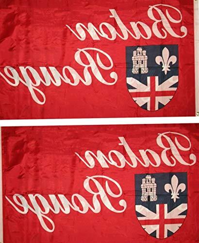 - Hebel 3x5 Baton Rouge Double Sided 2ply Nylon Poly Flag 3x5 Banner | Model FLG - 1490