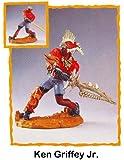 """Crazyworks Sport Warriors """"Ken Griffey Jr"""" Figurine & Accessories in Display Case. 1999 Edition"""