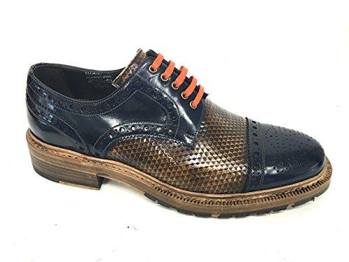 Harris - Zapatos de cordones de Piel para hombre KUBRIC LINO SHADE BLU