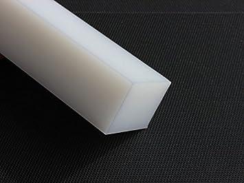 Fantastisch Kunststoff Klotz Vierkant Polyethylen PE 300 x 100 x 25 mm HD weiß  MA27