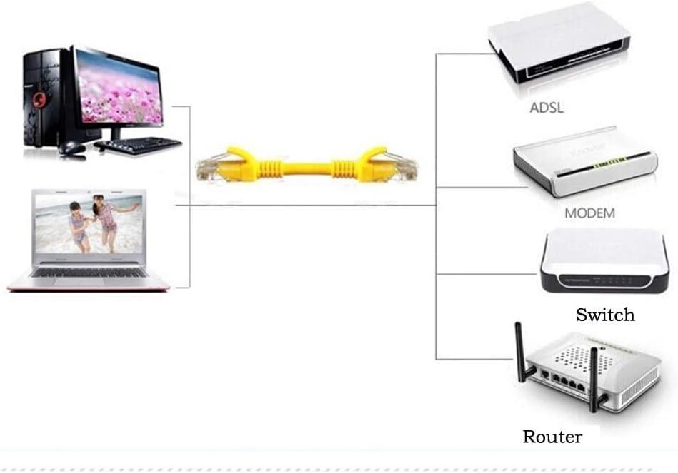 Cable Length: 20m, Color: Orange Connectors MOSUNX 2018 New Yellow External Outdoor Network Ethernet Cable Cat5e 100/% Copper RJ45 1-30M Factory Price