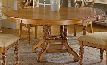 hillsdale wilshire round casual dining table in pine finish - Round Pine Kitchen Table