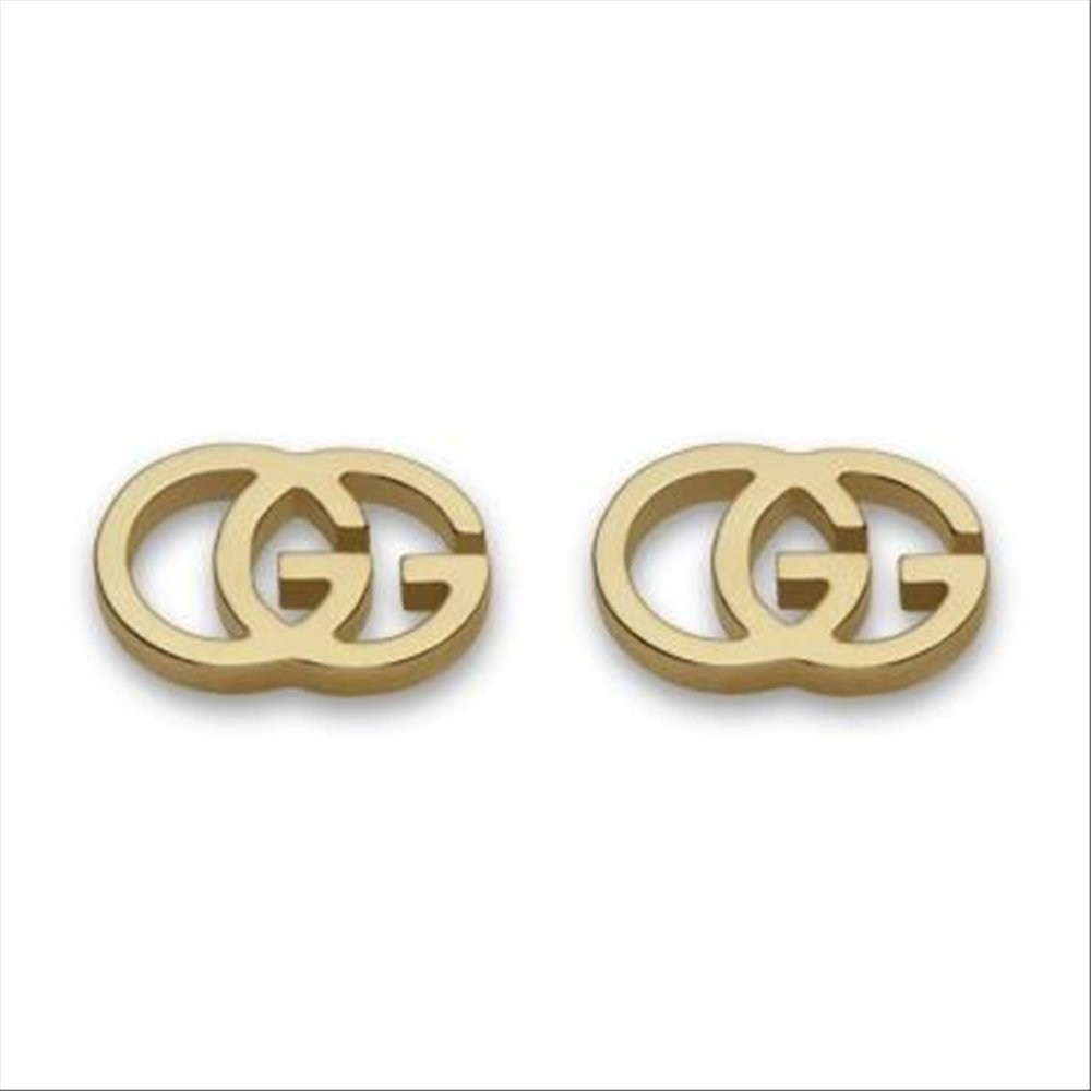 Gucci 18K Yellow Gold Double G Earrings - Gold by Gucci (Image #1)