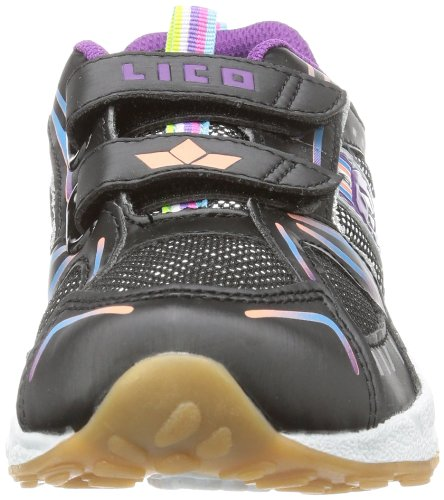 Lico Silverstar V - Zapatillas deportivas para interior de material sintético infantil negro - Schwarz (schwarz/silber/bunt)