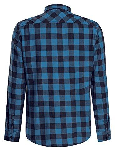 7975c Oodji Quadri Ultra Tasca Con Petto Blu Su A Camicia Uomo rqrxfwvI