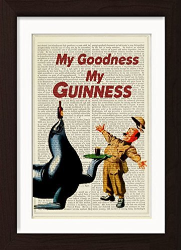 My Godness My Guinness Ready To Frame Mounted //Matted Dictionary Art Print