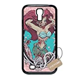 Diy Customized Cell Phone Case for Zombie Mermaid Black Samsung Galaxy s4 Hard Back Cover Shell Phone Case (Fit: Samsung Galaxy s4)