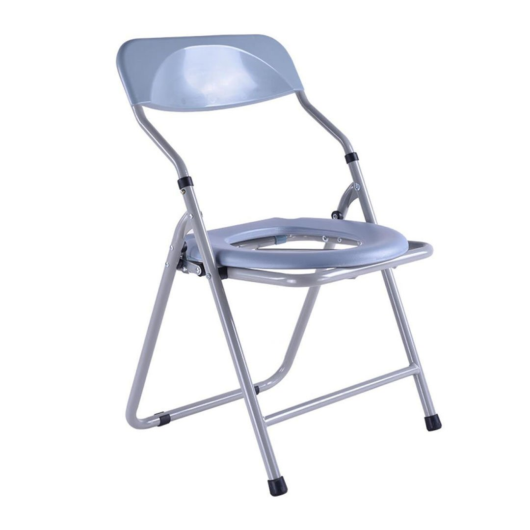 快適な高齢者の人トイレシート便座の椅子丈夫で丈夫な障害者の入浴スツール折りたたみトイレ妊婦のスチールチューブのトイレの椅子Max.150kg B07DL17M3M