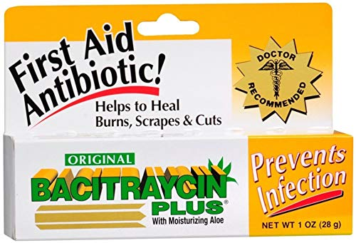 Bacitraycin Plus First Aid Antibiotic, Original, with Moisturizing Aloe, 1 oz.