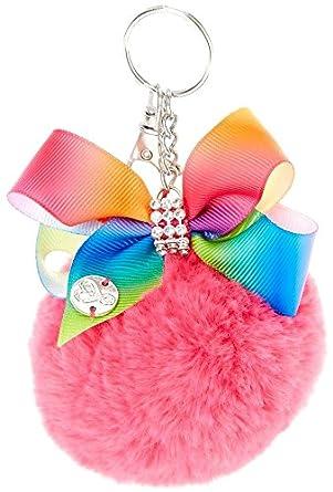 Amazon.com: JOJO Siwa Rosa POM Pom con lazo arco iris ...