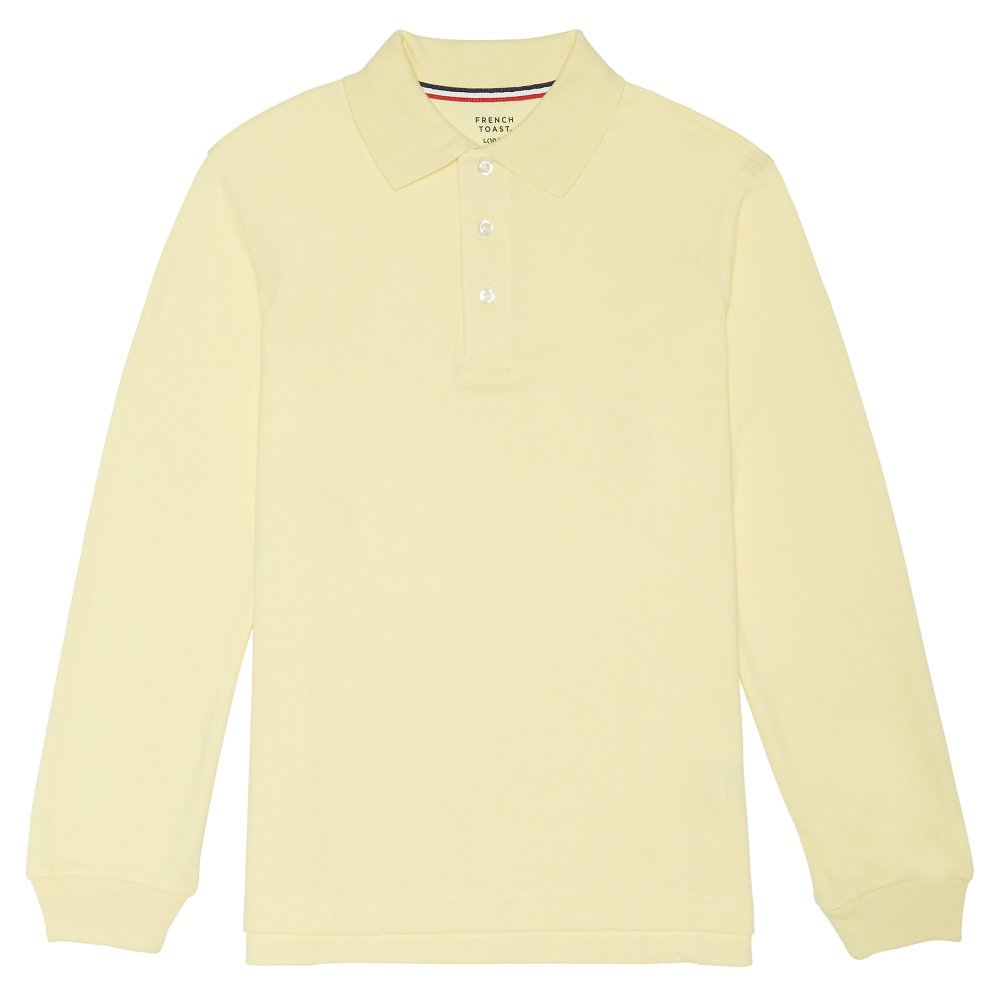 French Toast boys Long Sleeve Interlock Polo SA9087