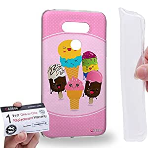 Case88 [LG G5] Gel TPU Carcasa/Funda & Tarjeta de garantía - Art Drawing Ice Cream Art1784