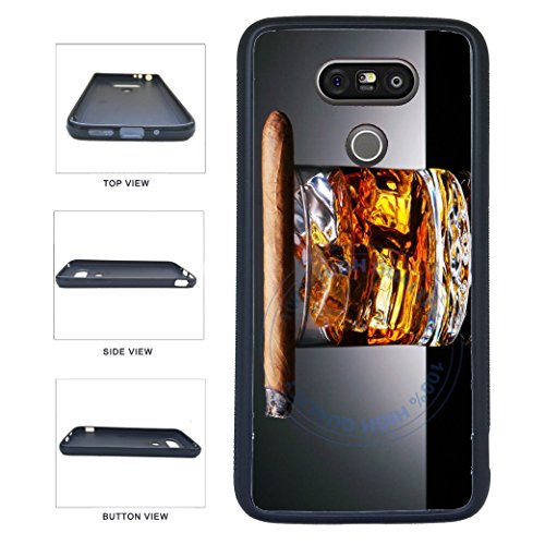 Price comparison product image BleuReign(TM) Cigar On Top Of Cognac TPU RUBBER SILICONE Phone Case Back Cover For LG G5