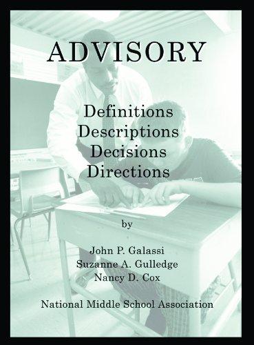 Advisory: Definitions; Descriptions; Decisions; Directions