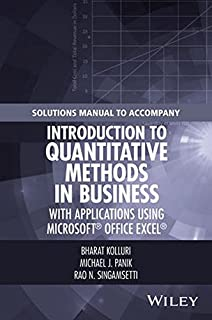 Amazon introduction to quantitative methods in business with solutions manual to accompany introduction to quantitative methods in business with applications using microsoft office fandeluxe Images