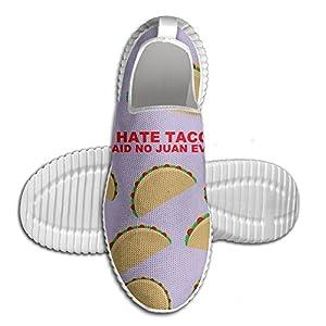 I Hate Tacos Said No Juan Ever Cartoon Men's Fashion Running Sneakers Shoes