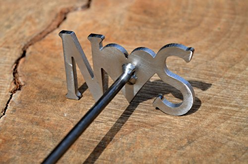 Custom Order Heart and Initial Branding Iron