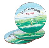 PGA St. Andrews Golf Club Coasters, Green, 5''
