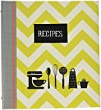 C.R. Gibson QP12-14120 Kitchen Gear Pocket Page Recipe Book, Multicolor
