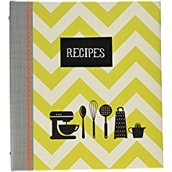 """C.R. Gibson Pocket Page Recipe Book Measuring 9"""" x 9.5"""" with Recipe Cards Measuring 4"""" x 6"""" - Kitchen Gear"""