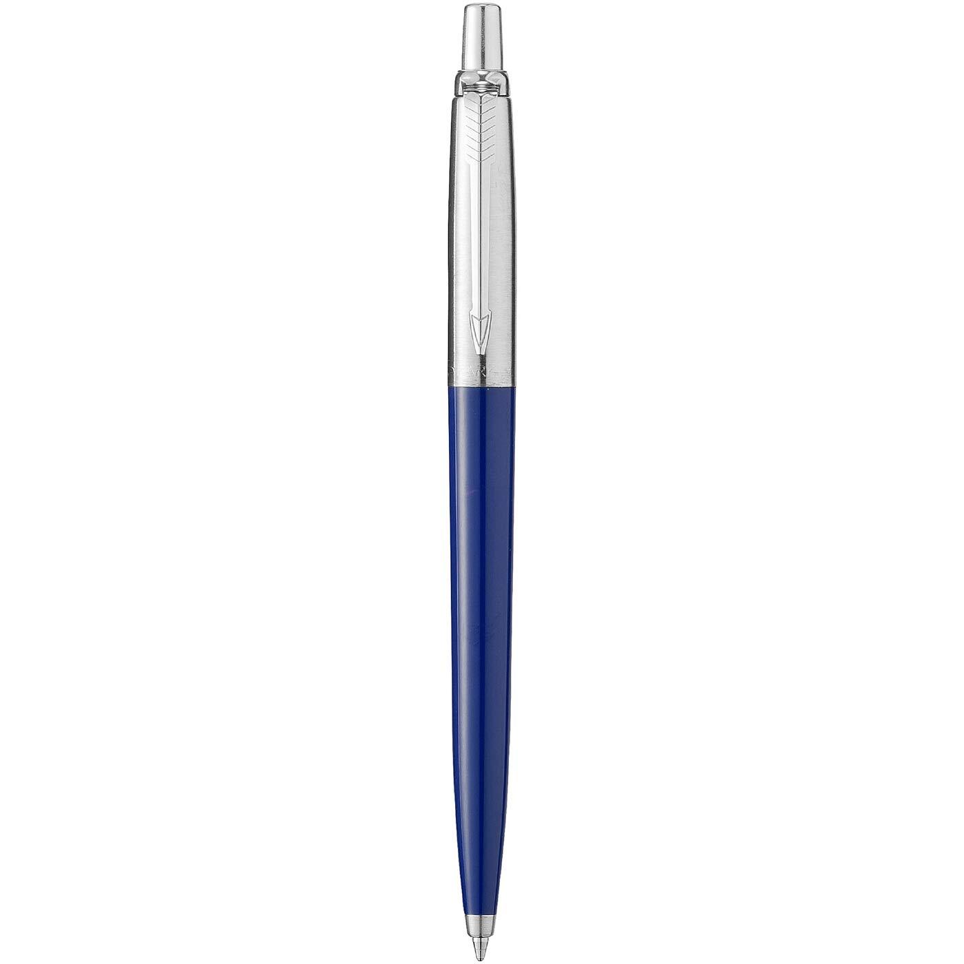 edelstahl mit Chromeinfassung, blaue Tinte, Blisterpackung Parker 1870803 Jotter Kugelschreiber