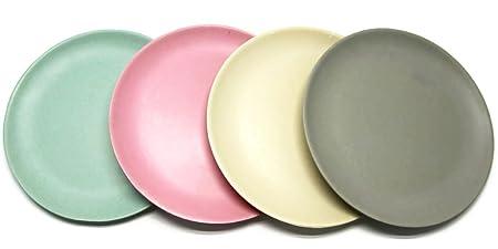 Bada Bing Crockery Bamboo Pastel Plate Cup Bowl 4 Piece Set 4er Set