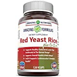 Amazing Nutrition Red Yeast Rice 600 Mg Plus Co Q-10 60 Mg 120 Vegetarian Capsules