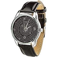Planets Watch Space Watch Cosmos Wrist Watch Constellation Watch Galaxy Watch Unisex Watch Leather Watch Band Women Watches Boyfriend Watch