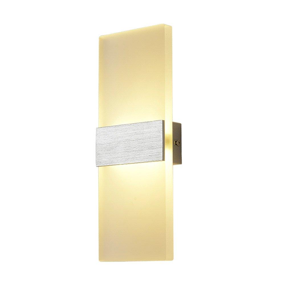 Lysed LED Acrylic Wall Lamp, 6W Warm White, Wall Light Night Light ...