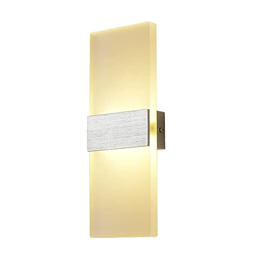 Lysed LED Modern Wall Sconce Lamps 6W Warm White 3000K Wall Light Indoor  Acrylic Lighting Fixture for Living Room Bedroom Hallway Conservatory Home  ...