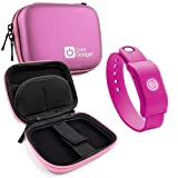 DURAGADGET Pink Hard EVA Shell Case with Carabiner Clip & Twin Zips for The SoundMoovz Musical Bandz