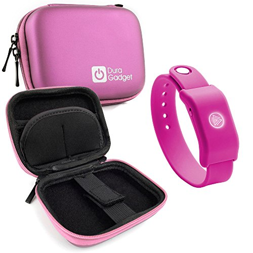 Pink Hard EVA Shell Case with Carabiner Clip & Twin Zips for the SoundMoovz Musical Bandz - by DURAGADGET by DURAGADGET