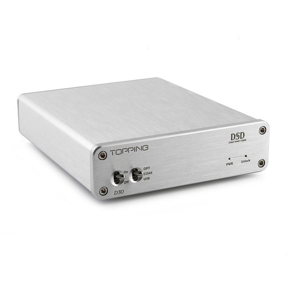 TOPPING D30 DSD Audio Decoder USB Coaxial Optical Fiber XMOS CS4398 24 bits 192KHz admite USB, Coaxial y fibra óptica: Amazon.es: Electrónica