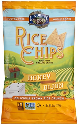 Lundberg Family Farms Rice Chips Made with Organic Grains, Honey Dijon, 6-Ounce Bags (Pack of 12)