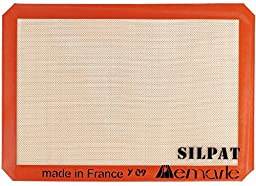 Silpat Non-Stick Silicone Baking Mat, Half Sheet Size, 11-5/8\