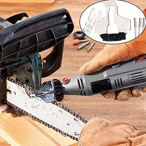 AIUSD Clearance  ,Chain Saw Sharpening Tool Attachment Rotary Power Drill Hand Sharpener Adapter