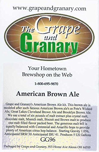 Grape and Granary American Brown Ale Beer Kit- For 5 US Gallons