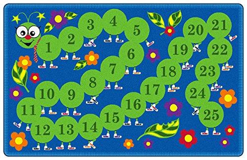 Counting Caterpillar Kids Area Rug 6'x9'