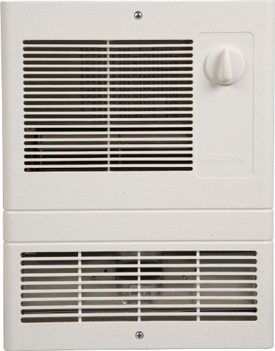 120v Wall Fan Forced - Broan 9810WH High Capacity Wall Heater with 1000 Watt Fan