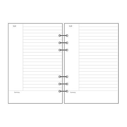 Cornell Notes Paper | Amazon Com Linxtech Loose Leaf Filler Paper Cornell Notes Paper