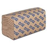 "Genuine Joe GJO21020 1-Ply Single-fold Paper Towel, 10-1/4"" Length x 9.10"" Width, Natural (Case of 16 Packs, 250 sheets per Pack)"