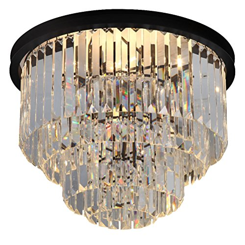 Exquisite 4-tier crystal Chandelier Chandeliers Lighting Flush Mount Pendant Ceiling Light H23.6