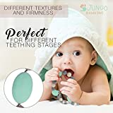 Image of JUNGO BAMBINO Silicon Teething Necklace For Mom To Wear and Baby To Chew. BPA Free. Variety Of Colors (Blueberry and Mint)