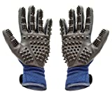 Pet Grooming Gloves | Hair Remover Brush for Dogs, Cats...