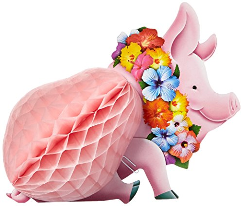 Luau Pig Honeycomb Centerpiece - 1