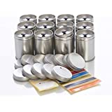12Large Spice Jars with Aroma Lid