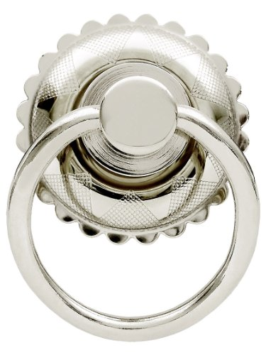 Eastlake Round Ring Pull in Polished Nickel Knobs and Pulls