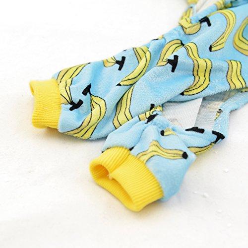 CuteBone Dog Pajamas Banana Dog Apparel Dog Jumpsuit Pet Clothes Pajamas P06(L) by CuteBone (Image #4)